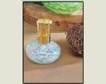 芳香薰香瓶(綠紅彩小飛碟137-9)手工瓶