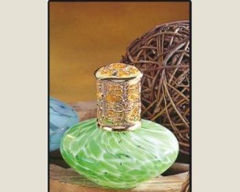 芳香薰香瓶137-6(綠彩大飛碟)