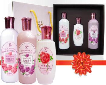 玫瑰沐浴洗髮乳液禮盒