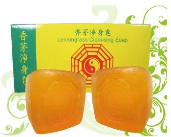綺緣香茅淨身皂100g*2入(加壓八卦)黃色方形+盒