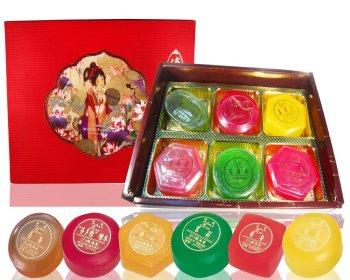 SPA精油皂禮盒組(6入裝)+提袋