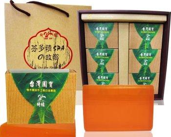 檜木精油手工嫩白滋養皂禮盒(6入裝)