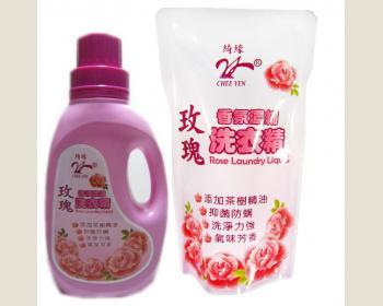 玫瑰香氛濃縮洗衣精1000g(12件組)-免運費
