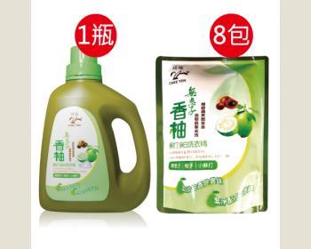 綺緣-無患子香柚精油清新潔白洗衣精1750g(1+8)