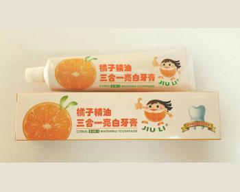 JIU LI 橘子精油三合一亮白牙膏120 g * 1 條