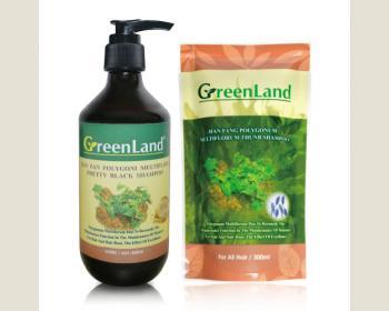 《限量》GreenLand何首烏黑靓洗髮精300ml(20瓶+4包)超值組