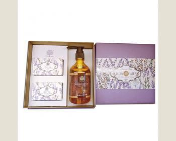 綺緣-檀香植淨花見嫩膚皂禮盒(2顆皂+1瓶洗髮精)