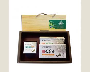 綺緣-苦茶油滋養禮盒(2入滋養皂*2盒+1瓶滋養霜)
