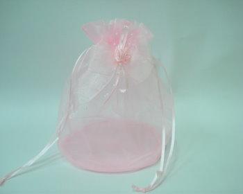 粉紅蝴蝶紗袋(長20cm*寬20cm)